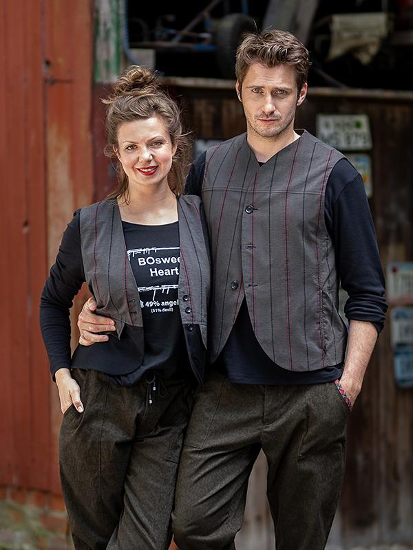 Weste Claudette . Shirt Babette . Hose Jerome + Weste Milo . Shirt Auguste . Hose Jerome