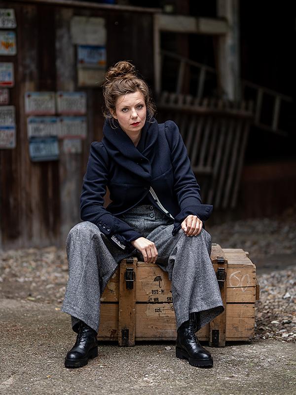Jacke Martha / short . Pullover Geraldine . Hose Aurelie
